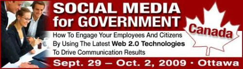 Social Media for Government - September 29 - October 2, Ottawa
